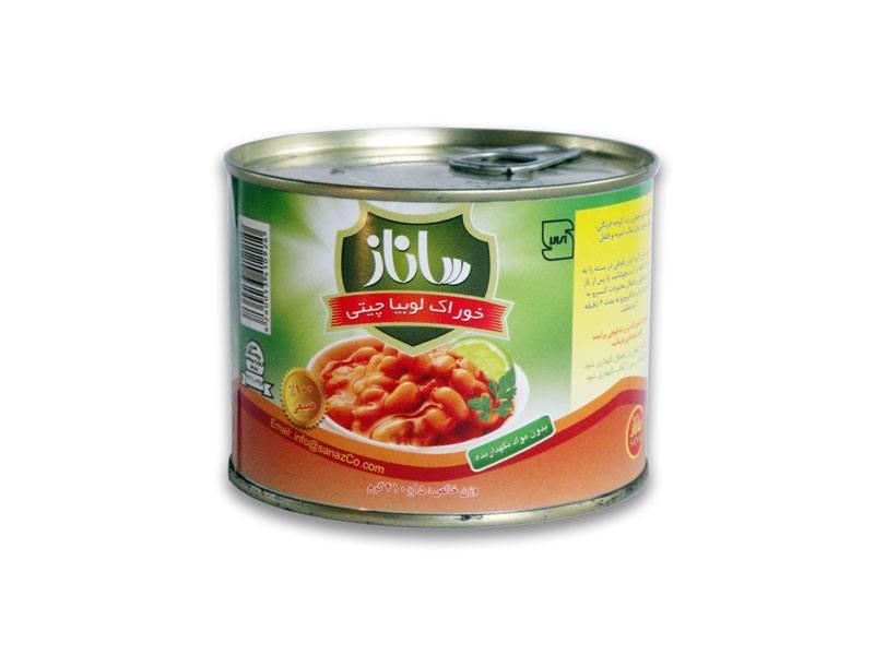 کنسرو خوراک لوبیا چیتی